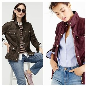 J. Crew Downtown field jacket Resin Coated Small